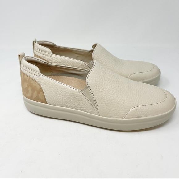 VIONIC Women's PENELOPE Cream Leather Sneaker